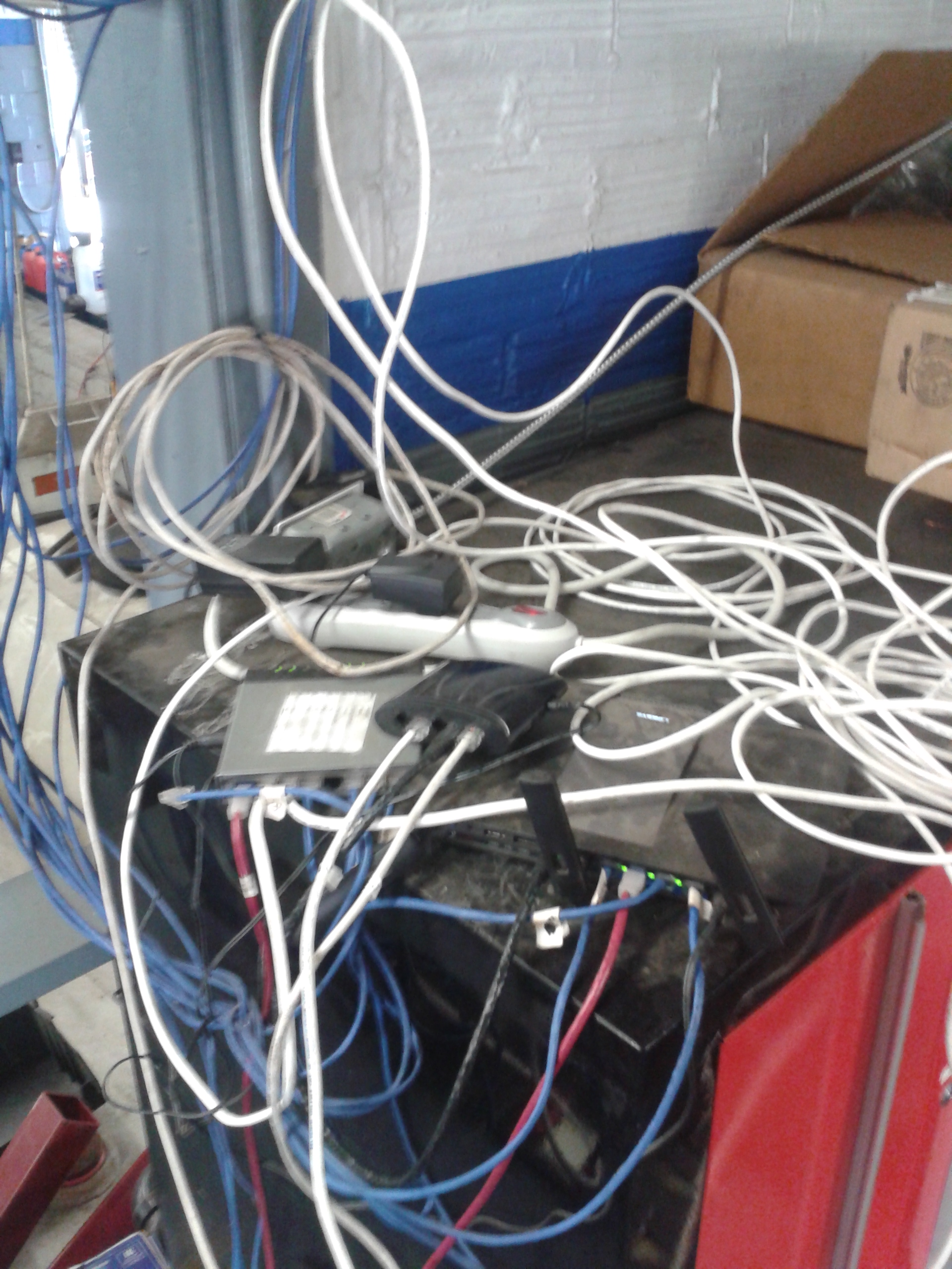 network mess